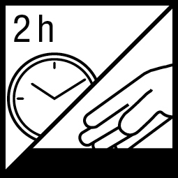 Kleefvrij na 2 h