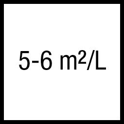 Theoretisch rendement: 5-6 m²/L