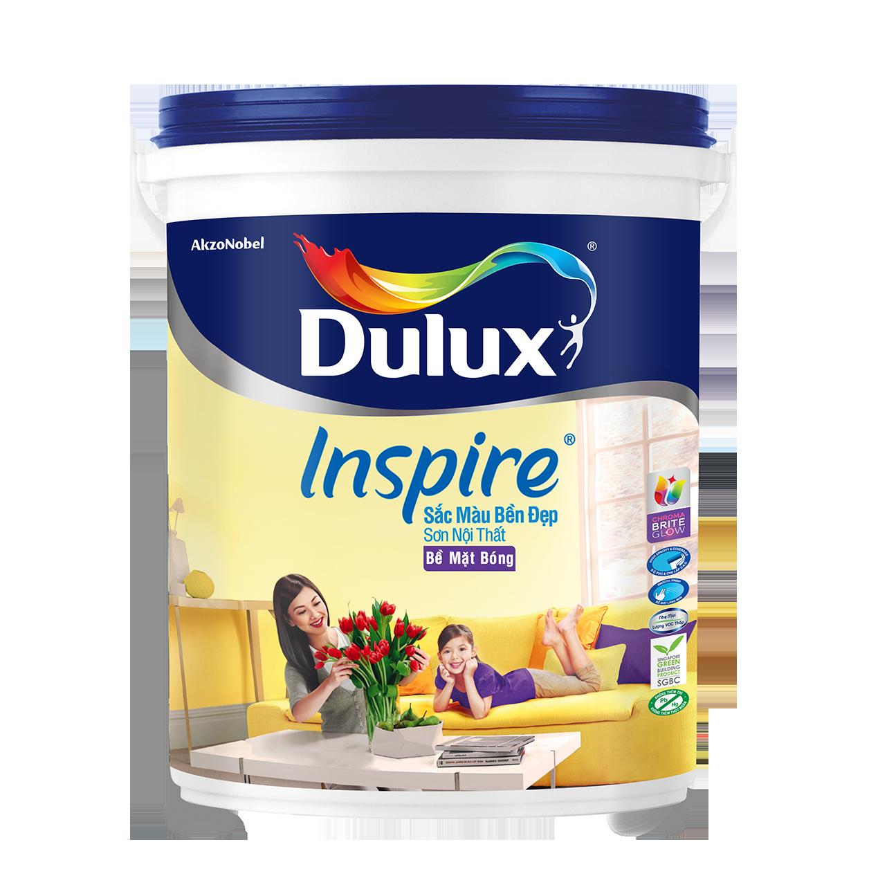 Dulux Inspire Nội Thất Sắc Màu Bền Đẹp Bề Mặt Bóng