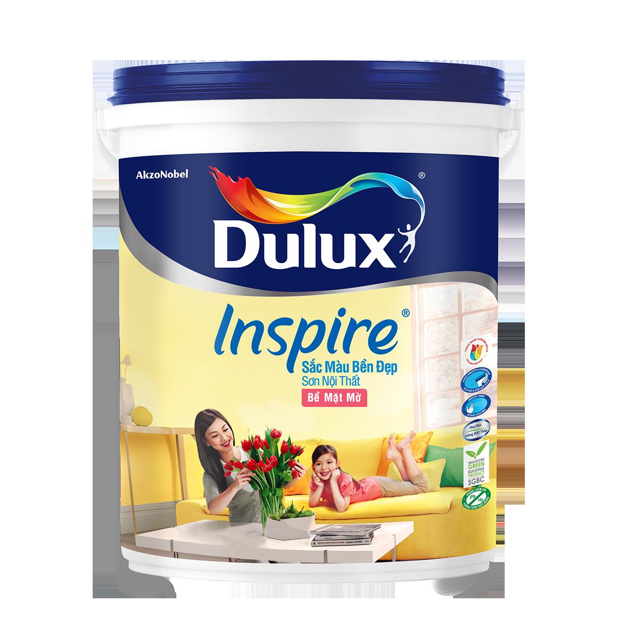 Dulux Inspire Nội Thất Sắc Màu Bền Đẹp Bề Mặt Mờ