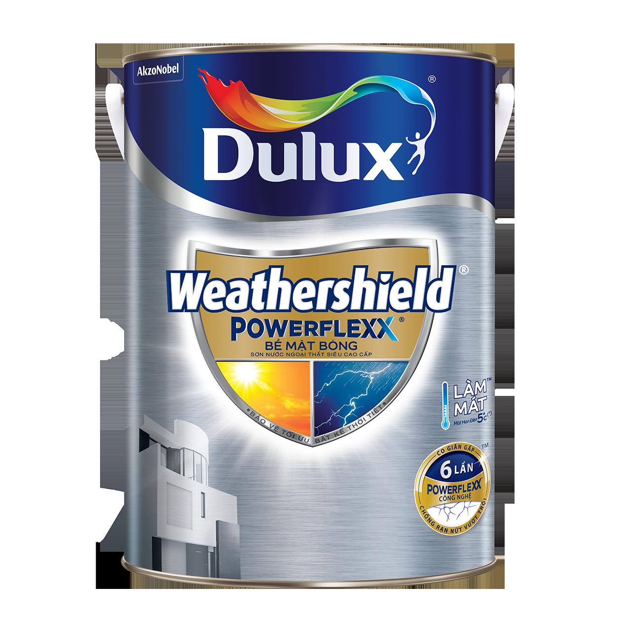 Dulux Weathershield Powerflexx Bề Mặt Bóng