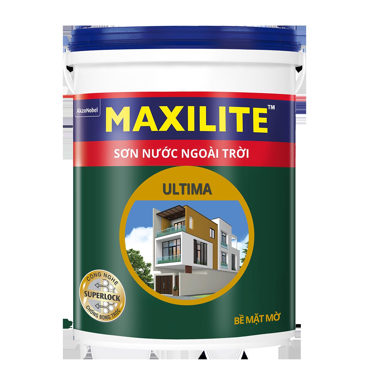 Sơn Nước Ngoài Trời Maxilite Ultima - Bề Mặt Mờ