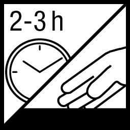 Kleefvrij na 2-3 h