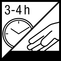 Kleefvrij na 3-4 h