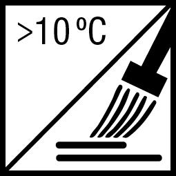 Verwerkingstemperatuur: minimaal 10ºC