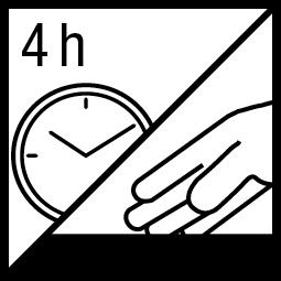 Kleefvrij na 4 h