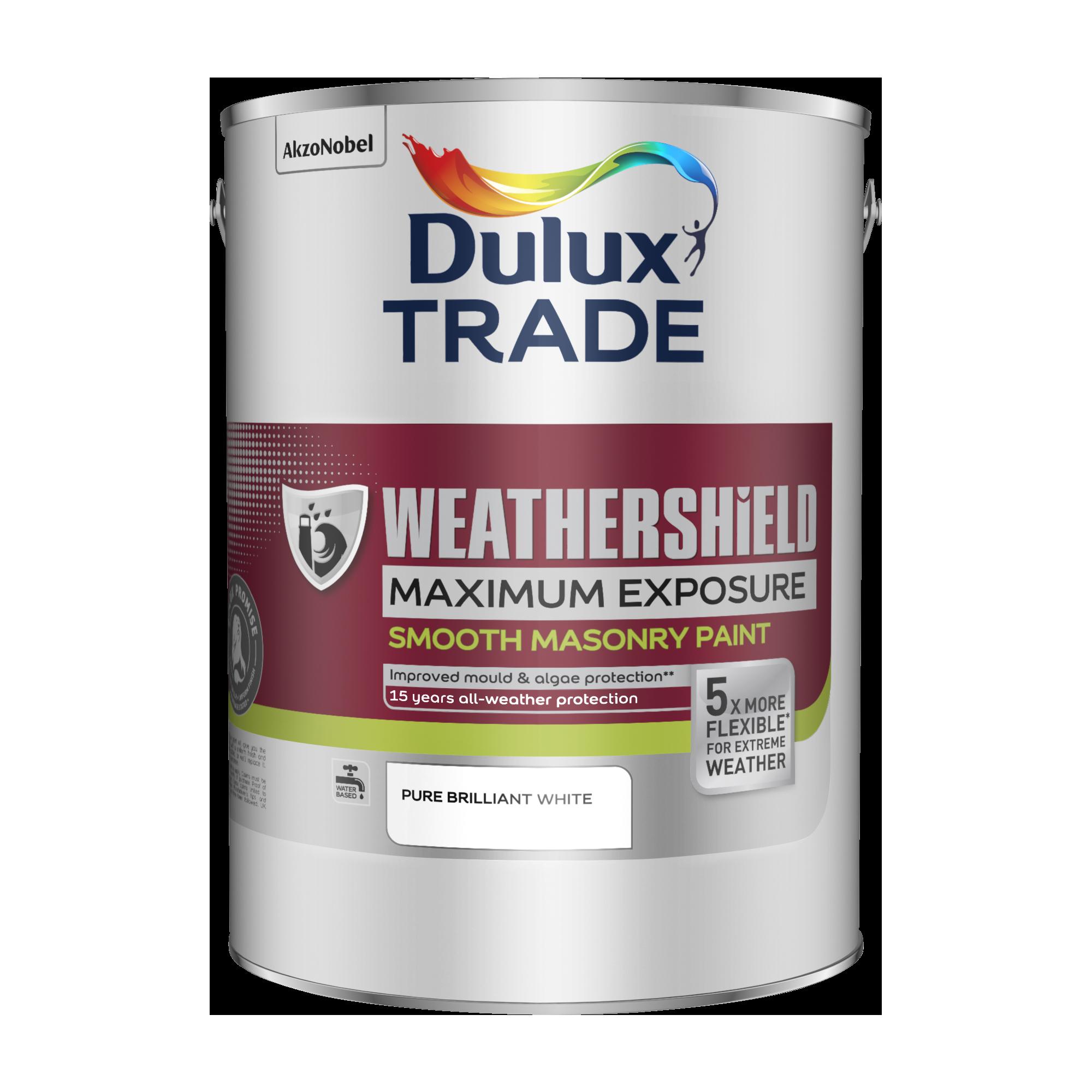 Dulux Trade Weathershield Maximum Exposure Smooth Masonry Paint